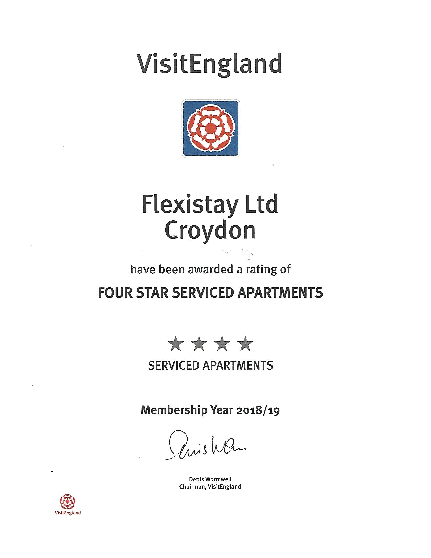VisitEngland.com - Flexistay Croydon 2018-19