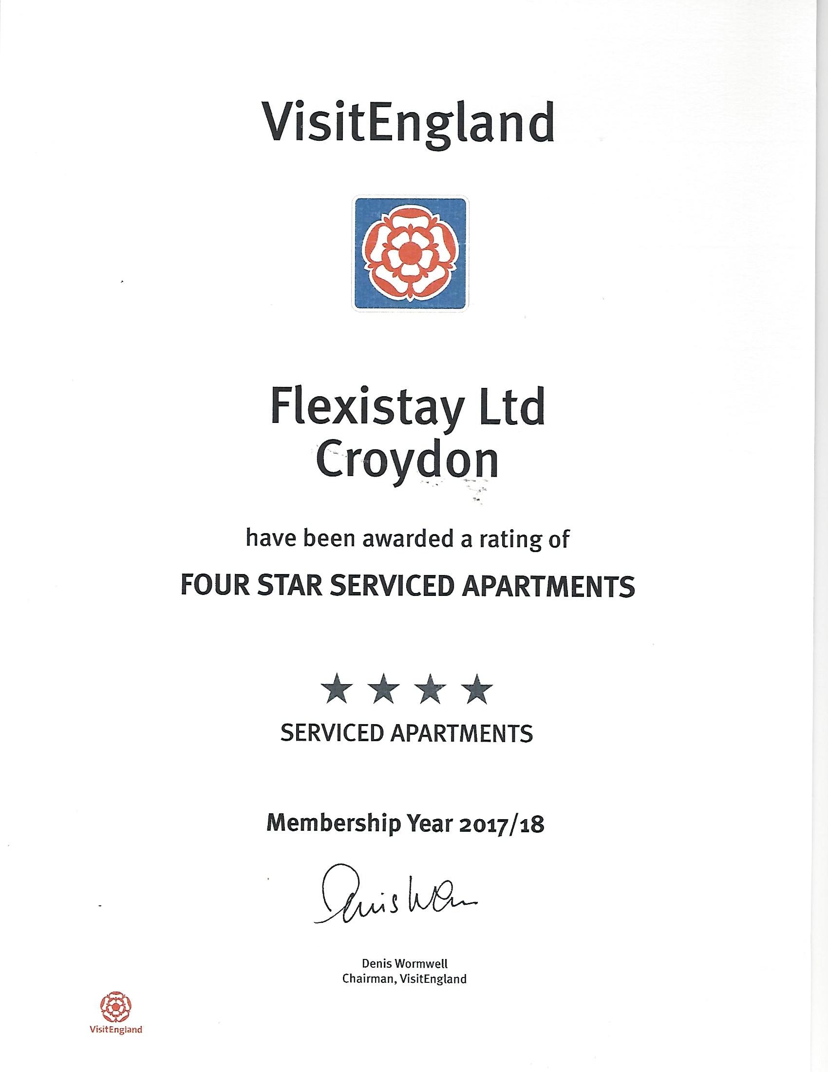 VisitEngland.com - Flexistay Croydon 2017-18